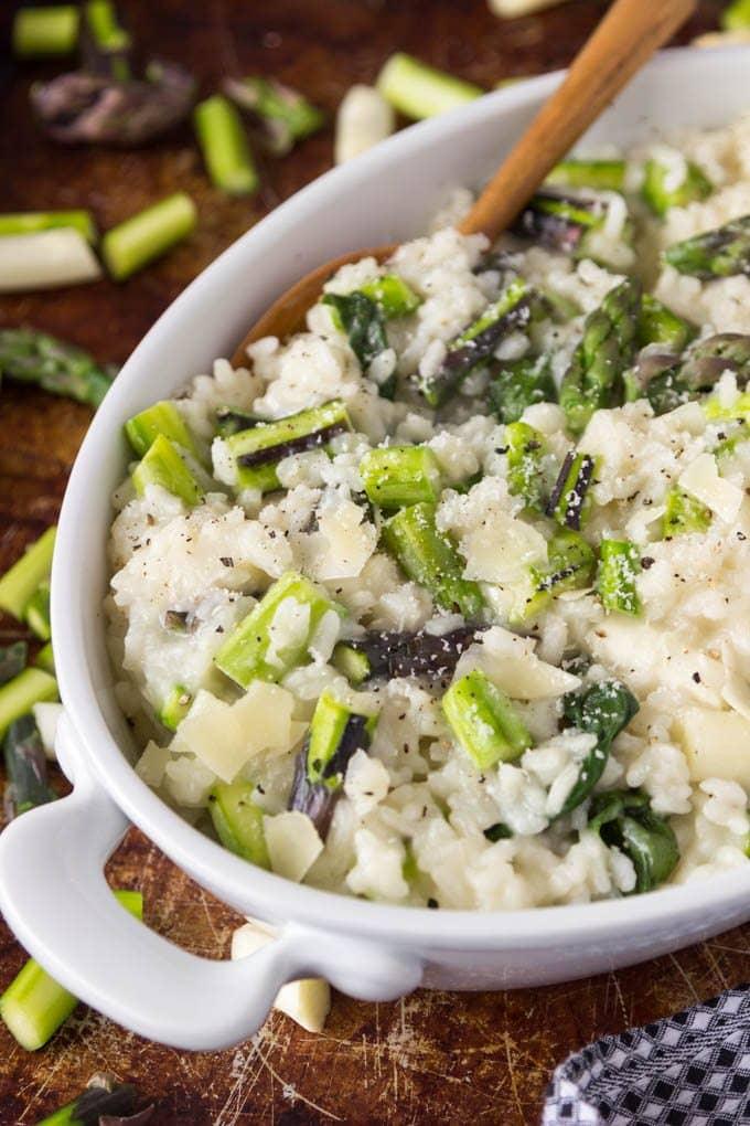 tri color asparagus risotto 3