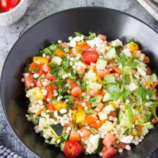 Chopped Israeli Couscous Salad