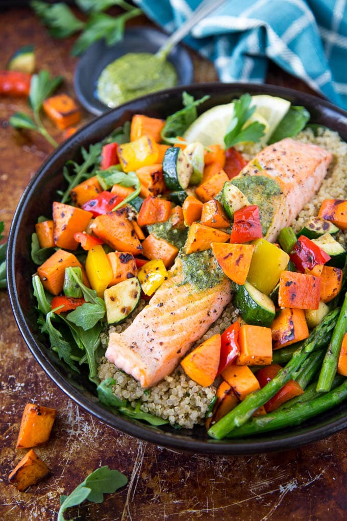 roasted salmon and veggies 3