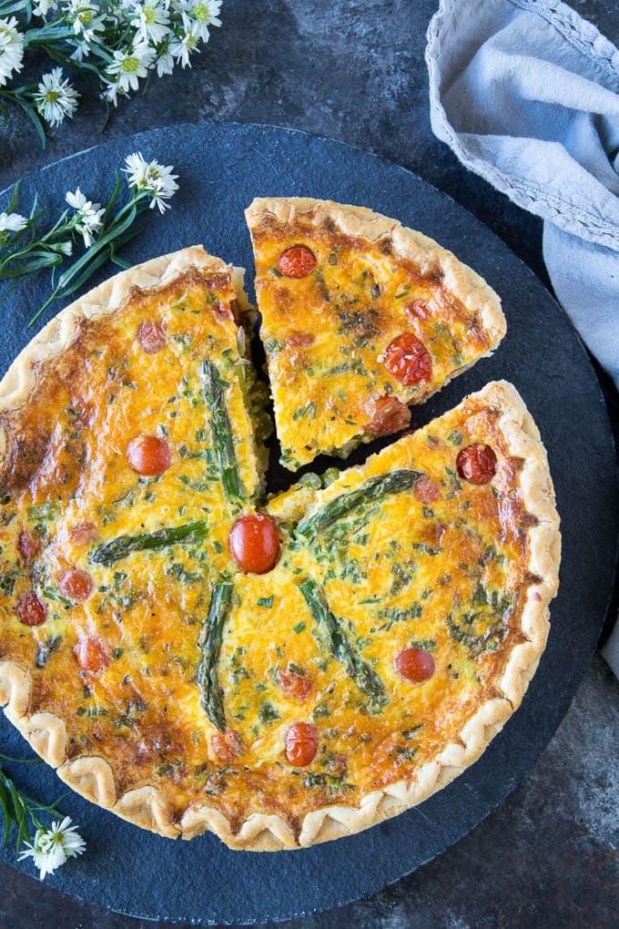 Healthy Asparagus  Quiche