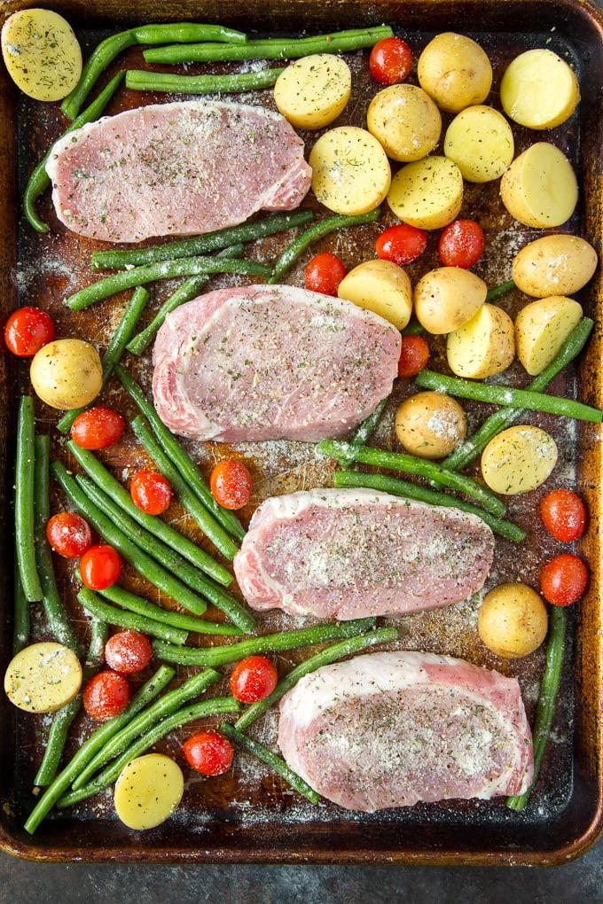 Ranch Pork Chops sheet pan