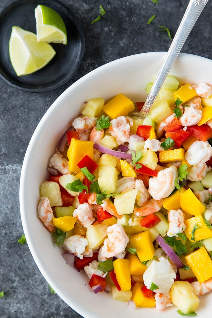 Easy Mango & Shrimp Ceviche