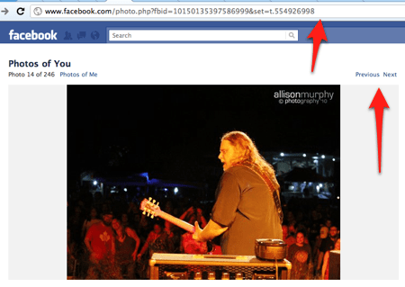 new Facebook photo layout