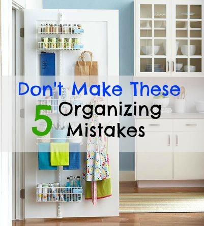 organizing mistakes