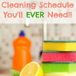 Free Printable of My Weekly Cleaning Schedule!