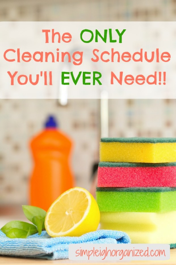 quick weekly cleaning schedule