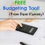 FREE Dave Ramsey Budgeting Tool
