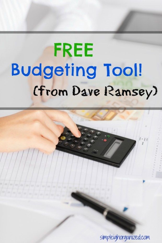 free dave ramsey budgeting tool simpleigh organized