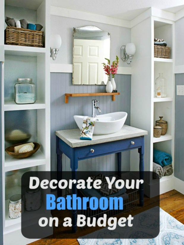 Decorating The Bathroom On A Budget Simpleigh Organized