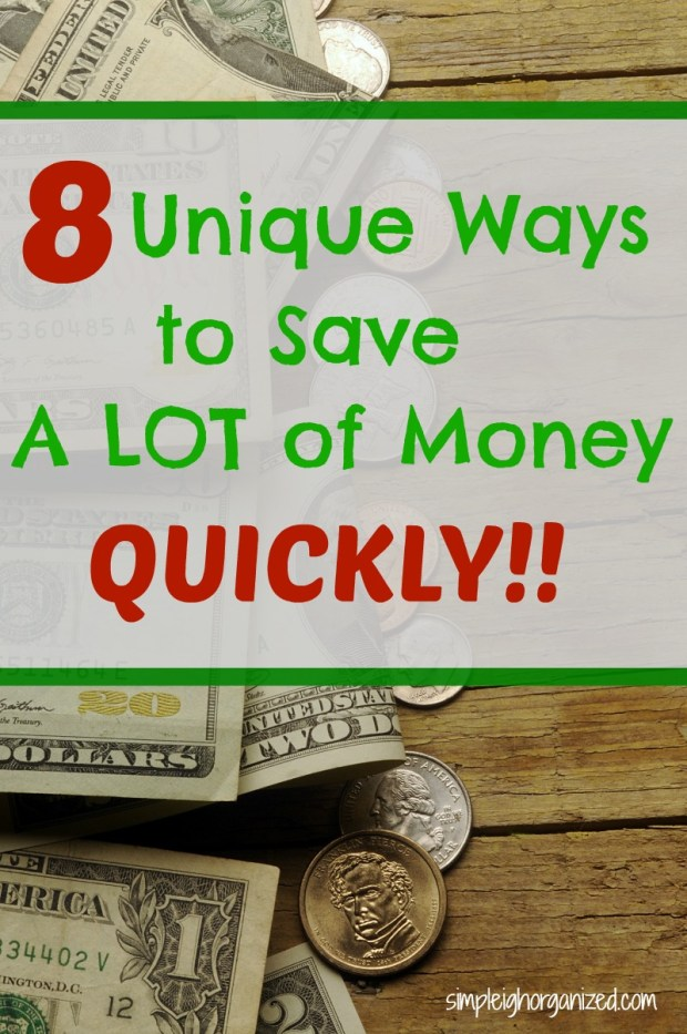 8 Quick and Easy Ways to Save Money