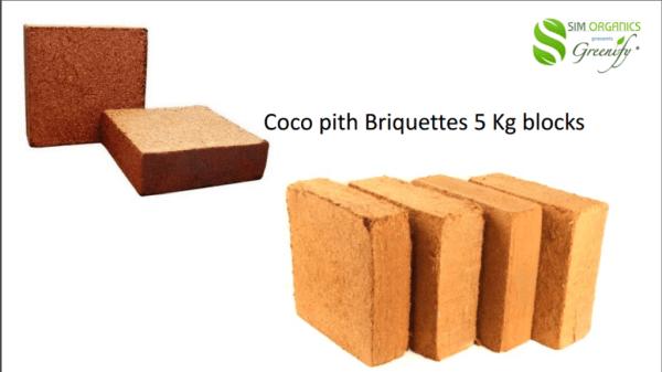 Coco pith Briquettes