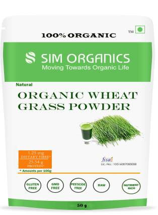 SIM ORGANICS WHEAT GRASS POWDER
