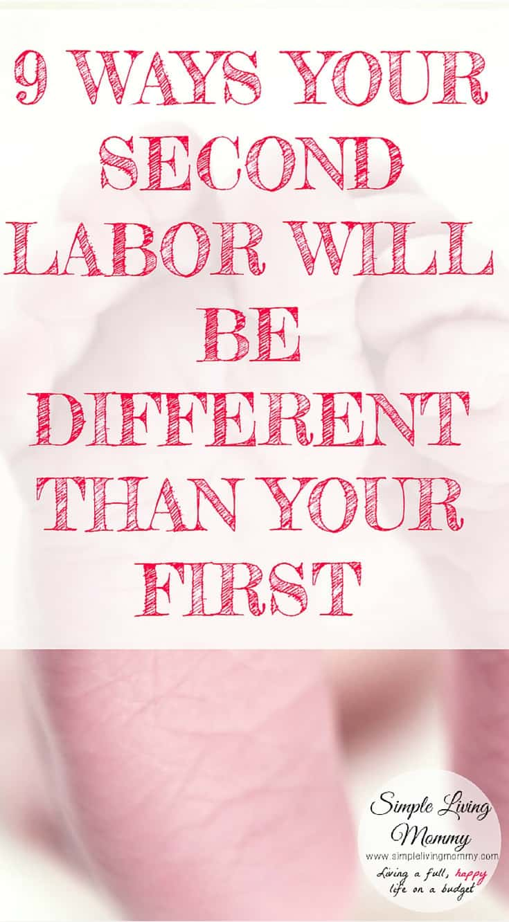 Are you pregnant with your second baby and wondering how labor will be this time around?  This mom of two describes 9 ways her second labor and delivery was different than with her first baby.  I'm so glad I read this before having our second little one!