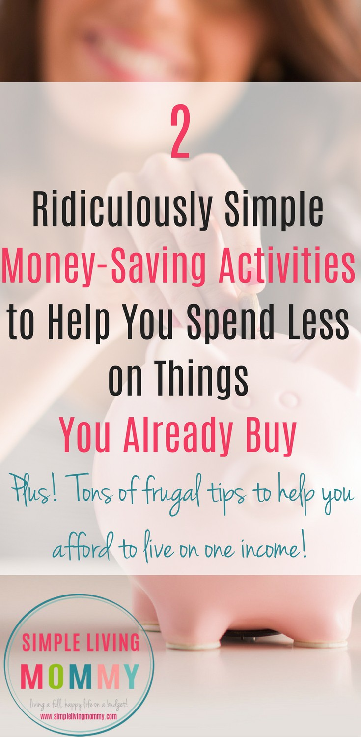 I'm so happy I found this! Trying to live on one income has been so tough, so these great tips on saving money on food and cutting costs were really helpful. The best part were the money-saving activities at the end. So simple, quick, and effective!