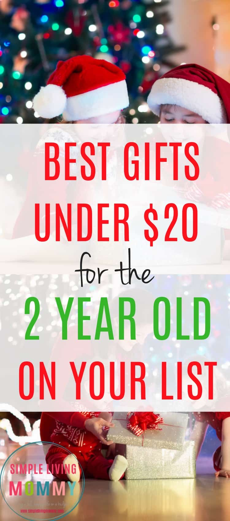 Out of gift ideas for the 2 year old on your list? These toys are perfect for toddlers and are inexpensive - all under $20!