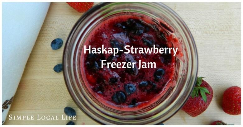 Haskap-Strawberry Freezer Jam