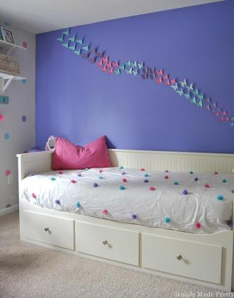 Girls Bedroom Home Decor that You Can DIY on a Budget   Simple Made     Girls Bedroom Decor with a Purple  Pink  and Teal Theme