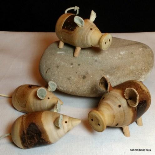 Cochons et souris - boîtes pour dents de lait