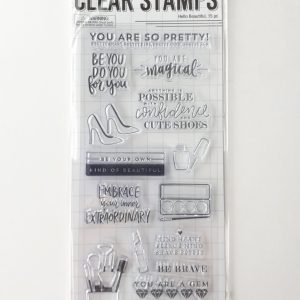 Clear Stamps - Hello Beautiful