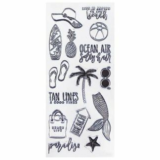 Clear Stamps - Beach Life - 15 pc