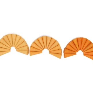 Grapat 36 minis cônes en bois orange