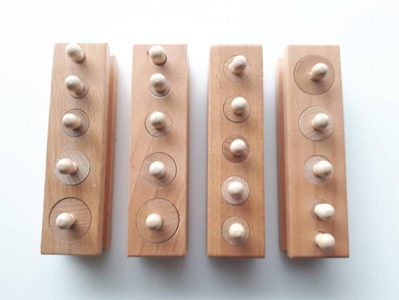 cylindres en bois Montessori