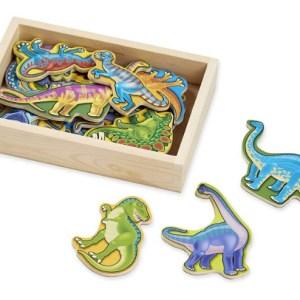 Dinosaures en bois aimantés