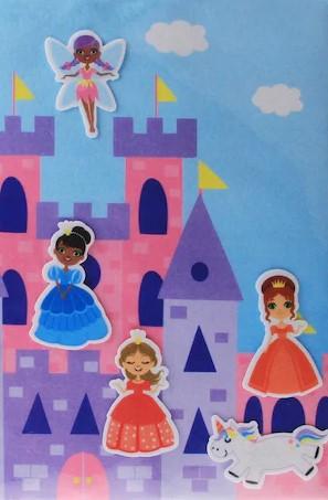 feutrine avec princesses, fées et licornes