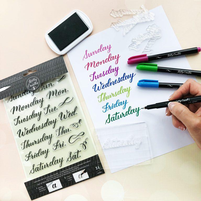 Étampes transparentes - Jours de la semaine