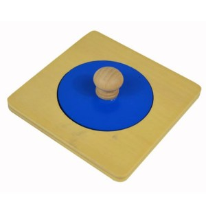 Gros cercle bleu en bois