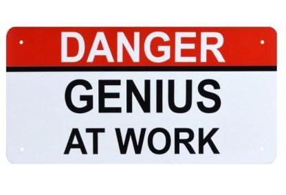 Danger: Genius at work