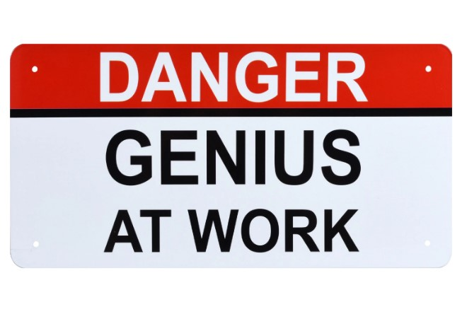 Danger: Genius at work