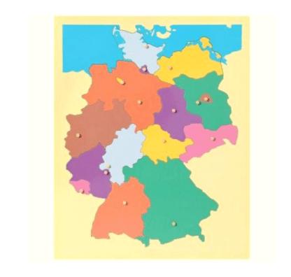 Puzzle Map - Allemagne et les Capitales