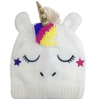 Tuque en tricot d'une licorne