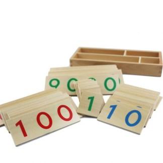 Cartes en bois numérotées 1 - 9000