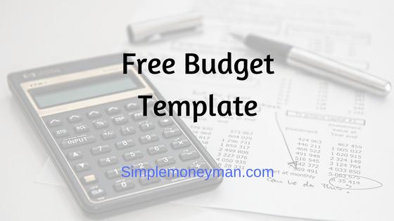 Free Budget Template simple money man