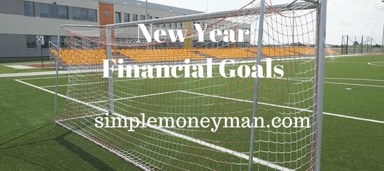 New Year Financial Goals simple money man