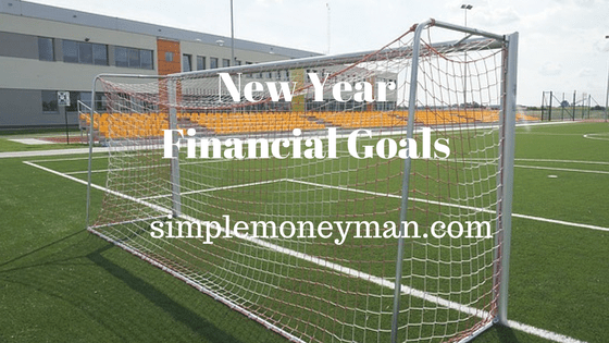 New Year Financial Goals simple money man
