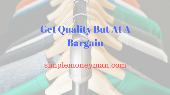 Get Quality But At A Bargain simple money man