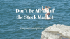 Afraid of the Stock Market simple money man