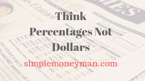 Think Percentages Not Dollars simple money man