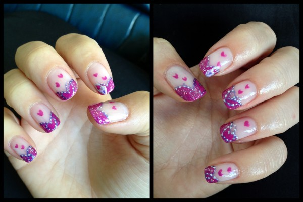 Justine Pink Purple Valentine Nail Art E1360545609807 Entry Valentines And French