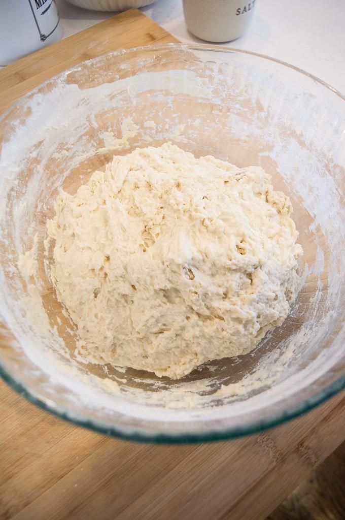 homemade artisan bread rise