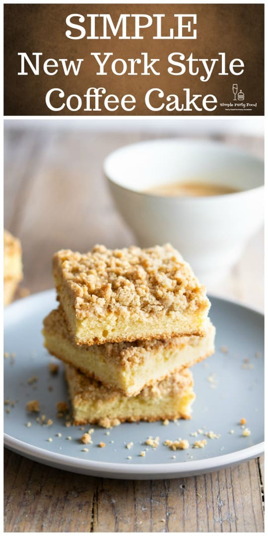 if You want to start your day the New York way it starts with a cup of cawfee and this crumb cake #coffecake #crumbcake #breakfast #simplepartyfood