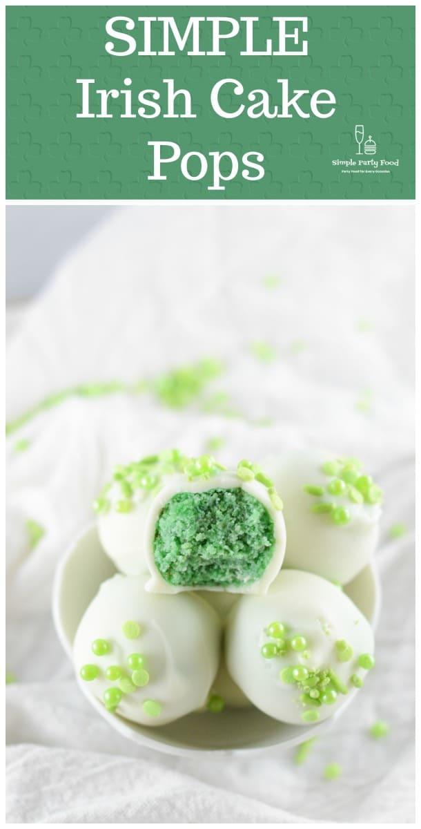 SIMPLE Irish Cake Pops