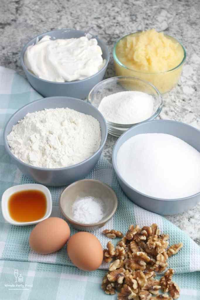SIMPLE Pineapple Cake ingredients