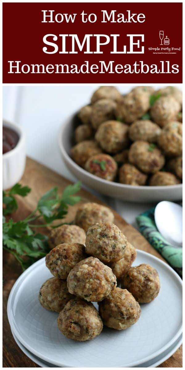 How to make SIMPLE Homemade meatballs #meatballs #meatballrecipe #cocktailmeatballs #swedishmeatballs #simplepartyfood #partymeatballs