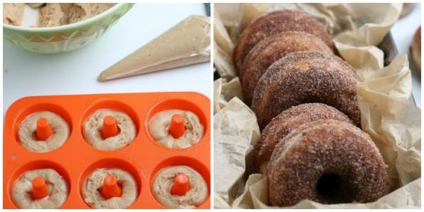 How to make apple cider donuts using a donut mold