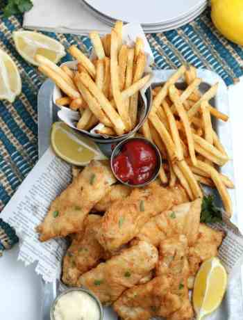 SIMPLE Fish and Chips - beer battered and fried