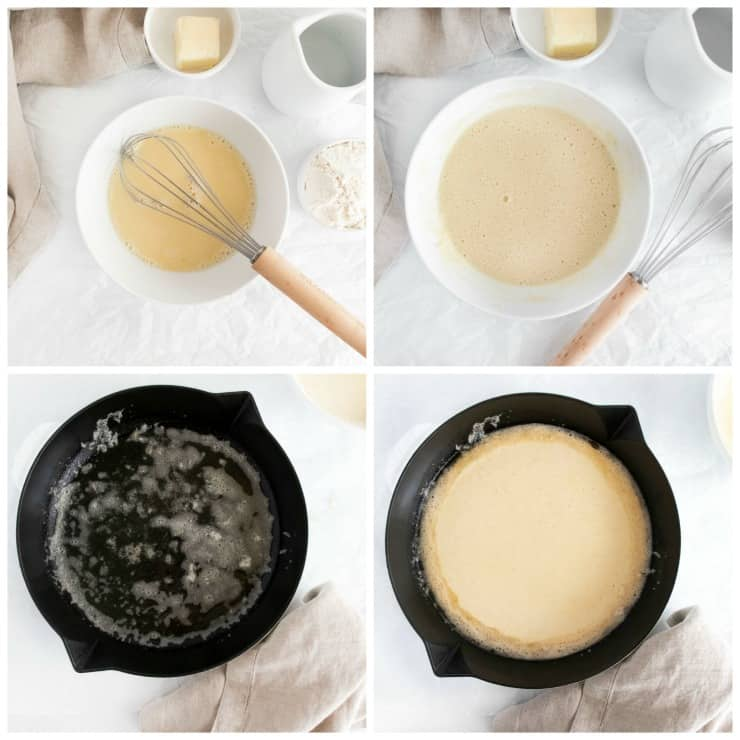 How to make a SIMPLE Dutch Baby pancake so light, fluffy and airy. Blank canvas for any kind of topping